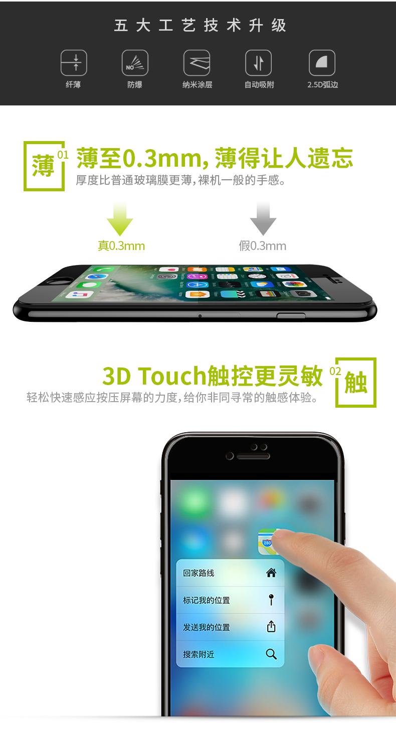 苹果x钢化膜6s/12/7plus/8/8p/6全屏xr抗蓝光11pro/iPhonexsmax详情图片17