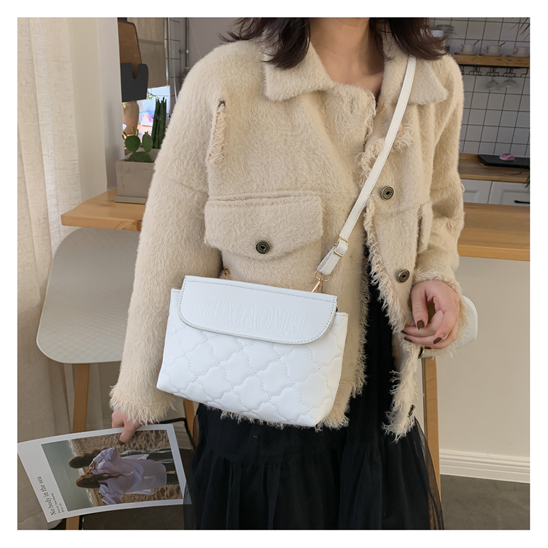 Korean version of the shoulder bag rhombus embroidered cross-body bag fashion trend small square bag women NHXC192234