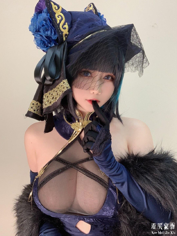 恋空少女高叉旗袍cos买家秀,碧蓝航线柴郡音乐绚烂CaitSith3