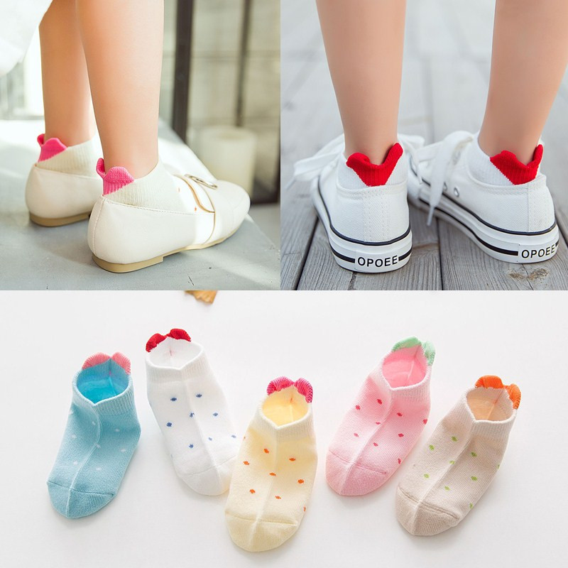 Y THREE-DIMENSIONAL LOVE SOCKS 5 PAIRS