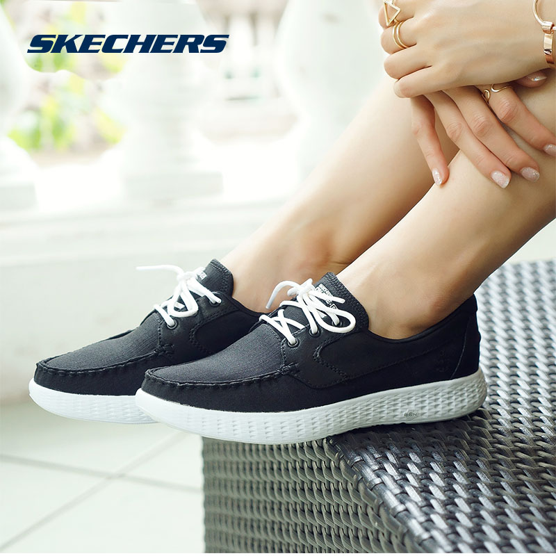 skechers Skechers 2017, New Women's shoes soft-soled casual shoes flat boat  shoes 14530
