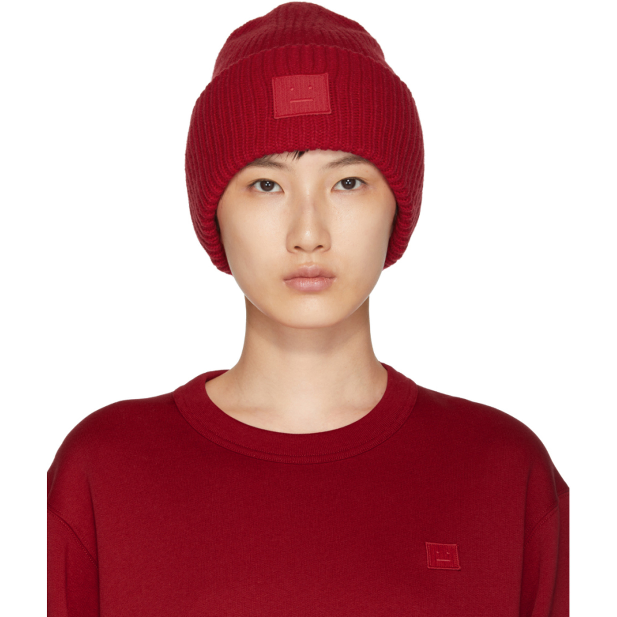 USD 314.64  (Overseas purchasing)Acne Studios 18 new red n smile hat ... 185c6c93a43