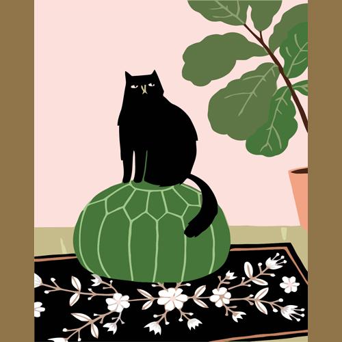3L095 Тыквенный кот(Раскраска покупателя