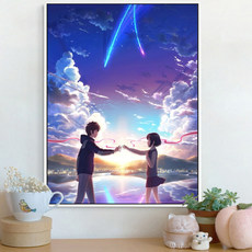 Cartoon anime your name diamond painting 2019 new small couple stick drill cross stitch living room bedroom full drill