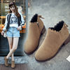 2018 Korean version of the new England and ankle boots wild women's boots flat boots women's shoes autumn and winter Martin thick with bare boots