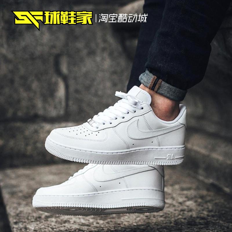 球鞋家NikeAirForce1AF1纯白低帮空军一号315122-111314192