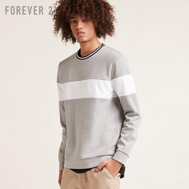 Quần cotton sọc tương phản của nam giới lỏng lẻo áo Forever21