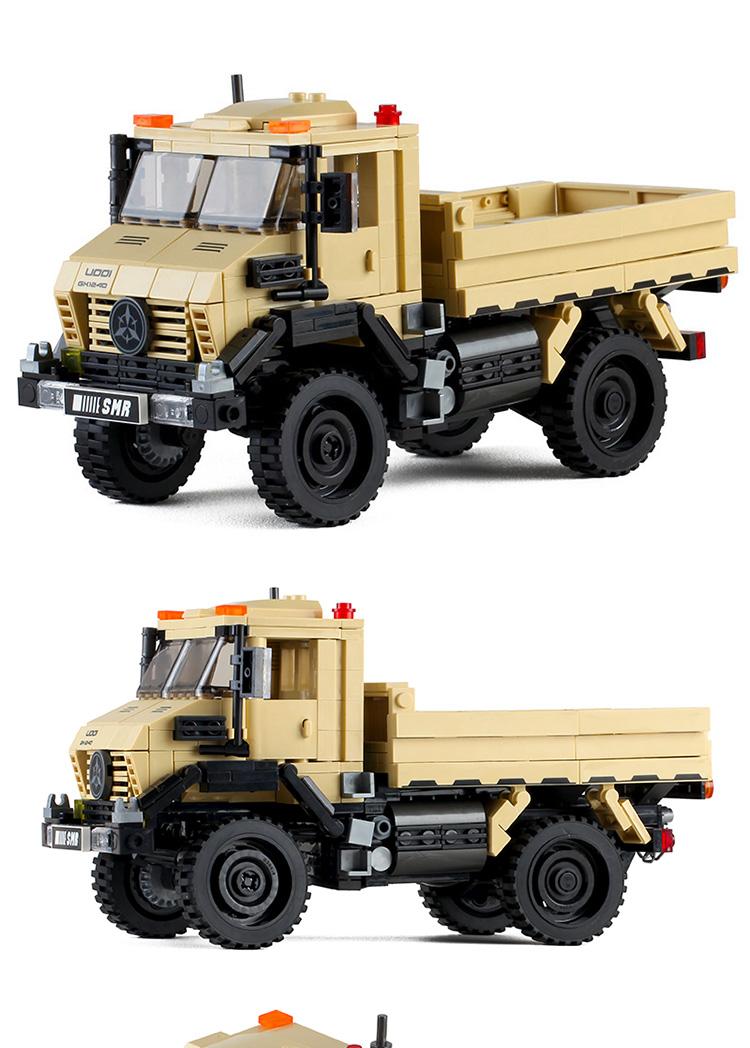 可转向避震吉普越野汽车卡车男孩儿童乐高拼装模型积木玩具岁详细照片