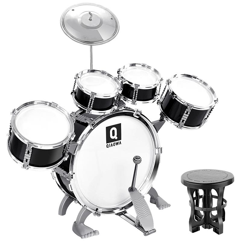 俏娃宝贝儿童架子鼓初学者爵士鼓音乐玩具打击乐器男孩礼物3-6岁1