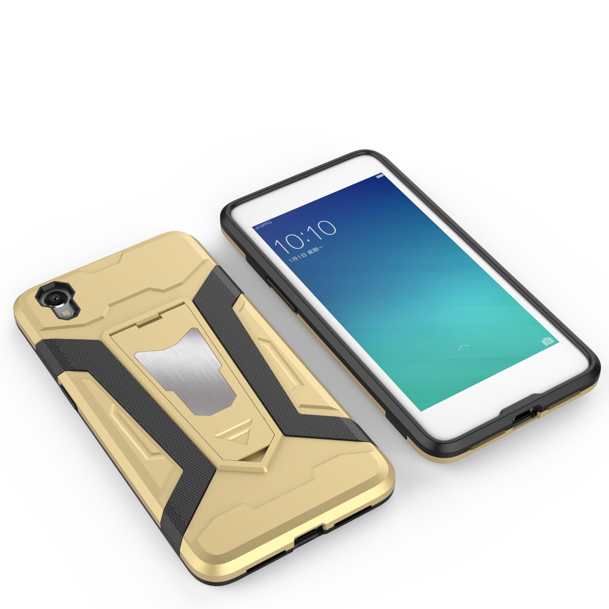 OPPOA37 A37 Stand Armor Back Case Cover Casing