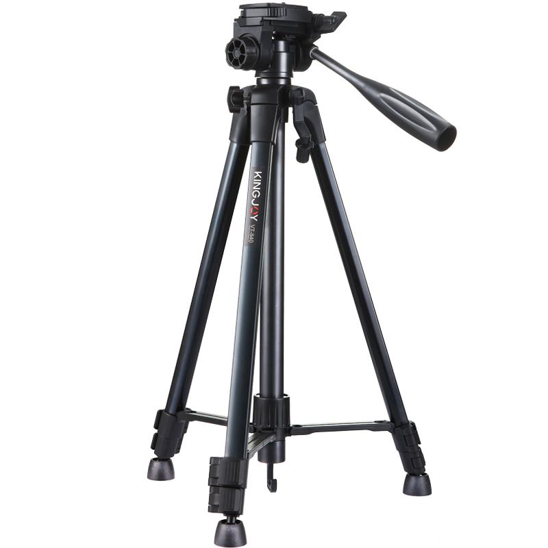 劲捷VT-840相机手机支架三脚架微单单反便携直播设备多机位拍照三角架ipad补光灯落地式多功能桌面户外自拍