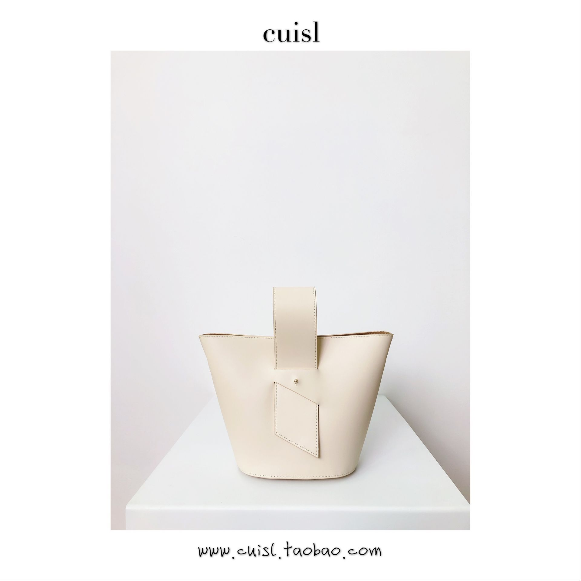 Cui's leather Art Factory homemade new niche design basket Baotou layer leather shoulder leather handbag