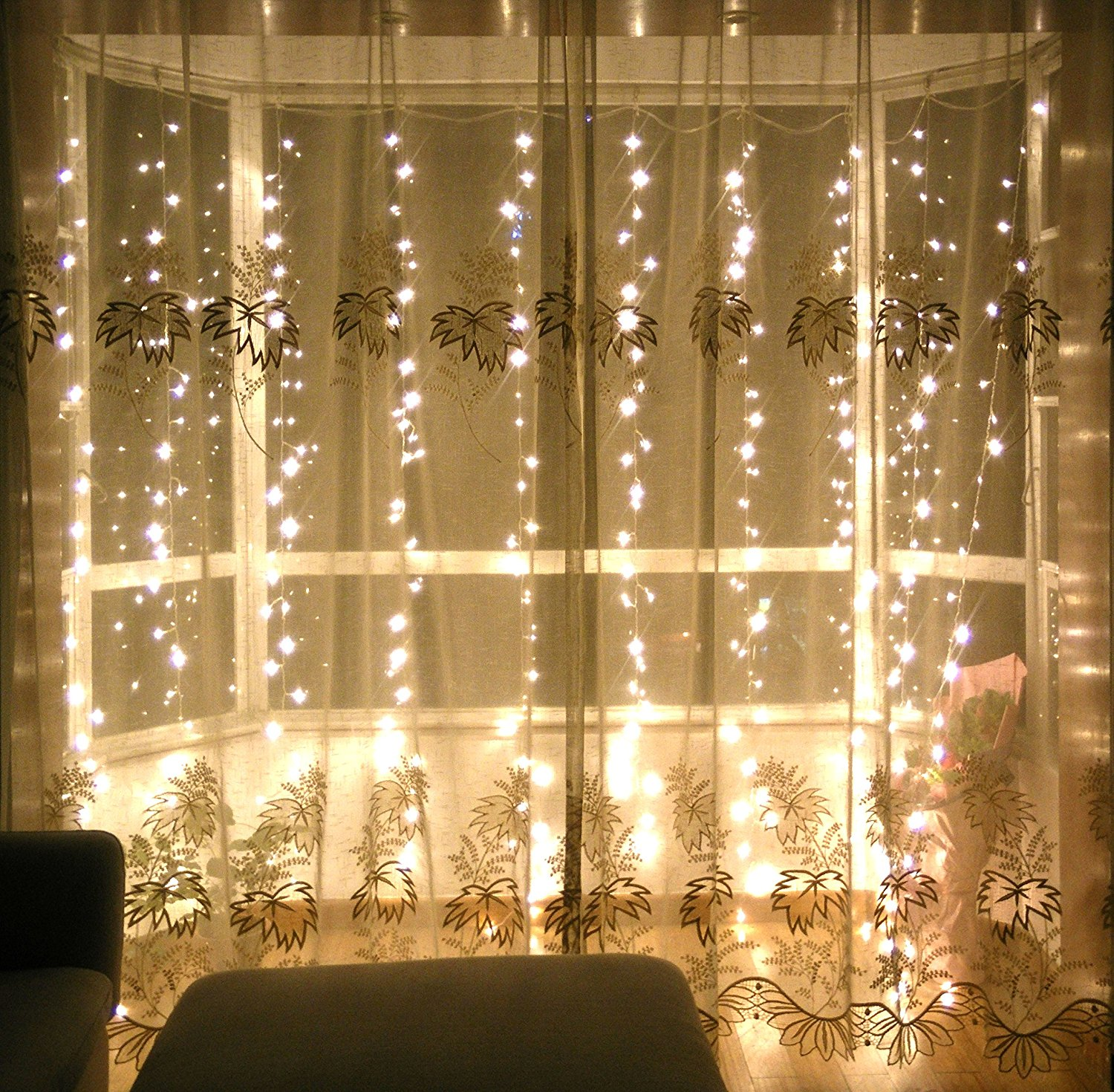USD Led Stars Lights Curtain Light Waterfall Colorful Lights - Curtain lights for bedroom