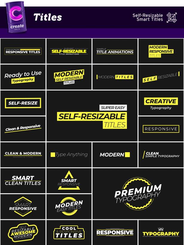 AE脚本-3600组字幕条标题图形元素背景转场社交网络图文排版设计动画插图(8)