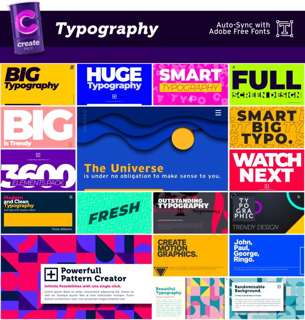 AE脚本-3600组字幕条标题图形元素背景转场社交网络图文排版设计动画插图(1)