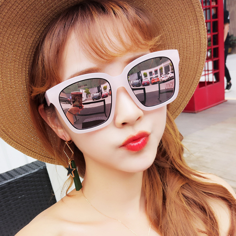 00be5e3366 New sunglasses female tide personality round face polarized sunglasses net  red myopia glasses long face star with the paragraph