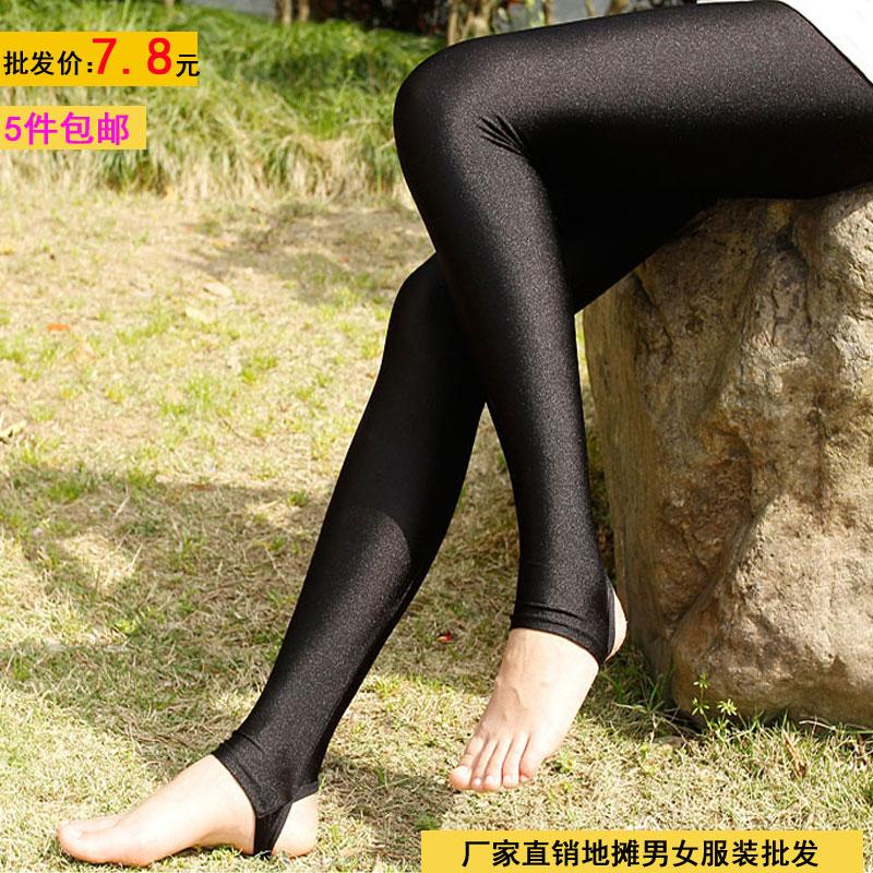 特价猫夏季女士薄款弹力光泽裤 fxliang12