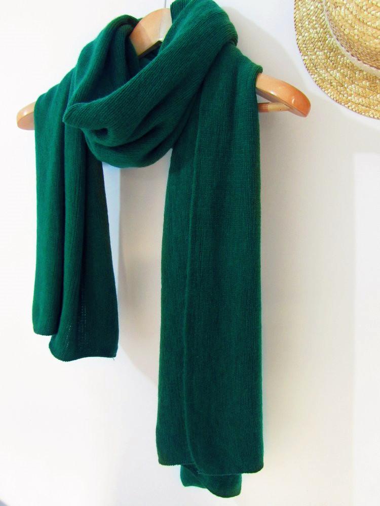 шарф Зима корейской версии из тонкой шерсти шарф платок мужской и женский студенты Джокер Винтаж Японский темно-зеленый вино красный кофе