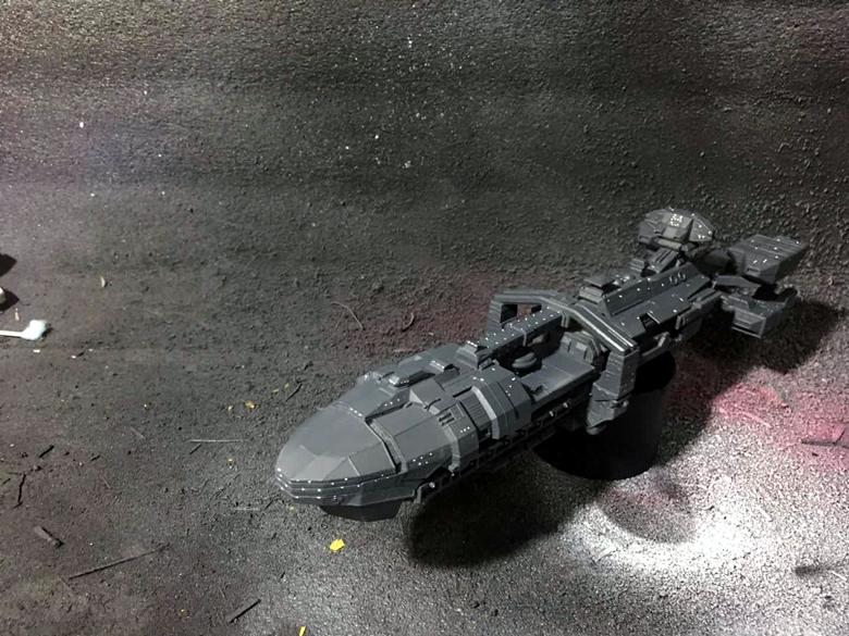 Starship Troopers Roger Young Resin GK Painted Finished Model Spaceship In Stock