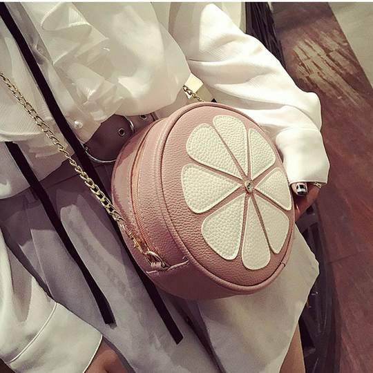 2019 summer new flower female bag tide shoulder small round bag slung small bag female round sun flower mini bag