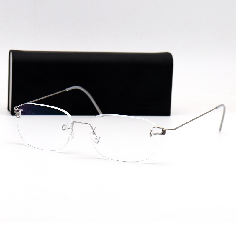 e341194037 Zhang Jiahui with the frameless glasses frame male AIR series 297 396  Lindberg glasses frame 395
