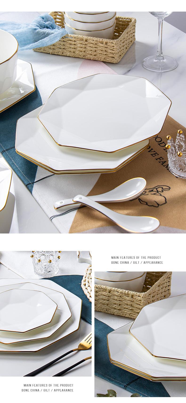 Up Phnom penh Nordic creative web celebrity light excessive ipads porcelain tableware ceramics steak plates ins dinner plate household 0