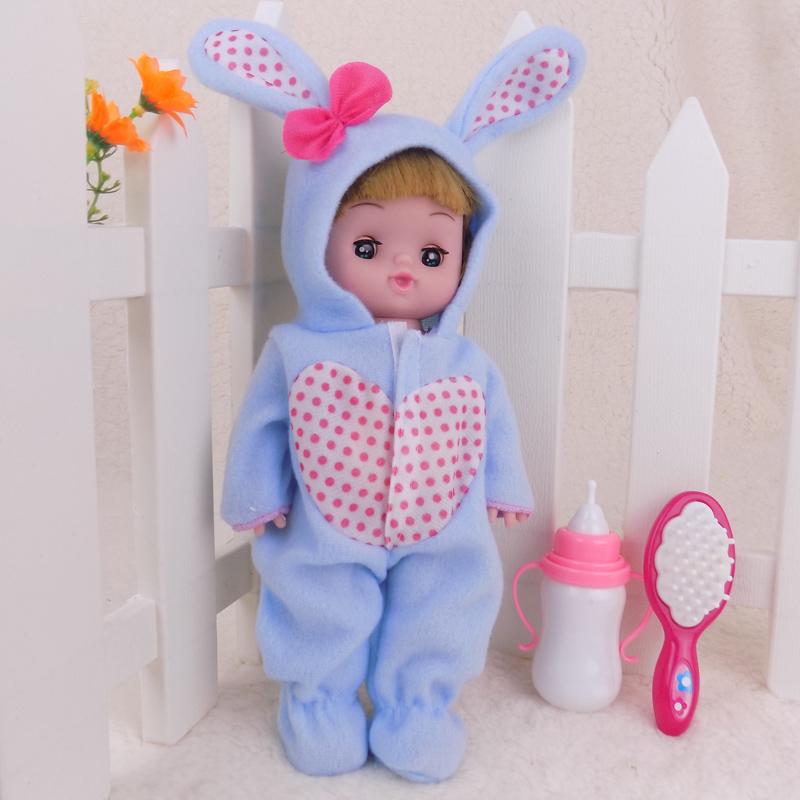 Голубой Кукла + гребенчатая вокальная бутылка