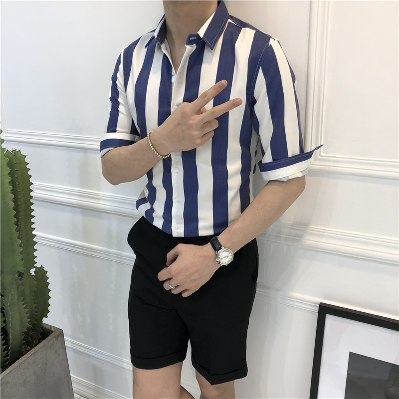 8913dde9f9e4 ... men's simple thick striped shirt Youth Winter casual shirt long · Zoom  · lightbox moreview · lightbox moreview · lightbox moreview · lightbox  moreview ...
