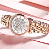 Laothers new authentic watches ladies fashion simple quartz female table diamond temperament waterproof full star stars
