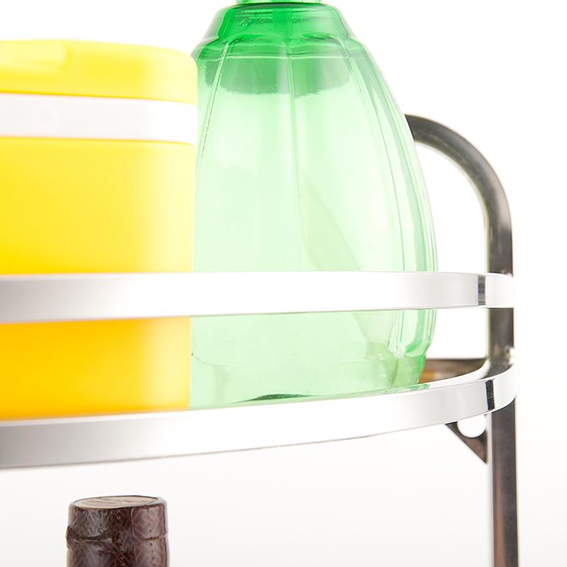 Рейлинг Полка из нержавеющей стали кухня полки хранения углу стойки кухонных принадлежностей приправы для одежды три слоя угол кронштейн стойки