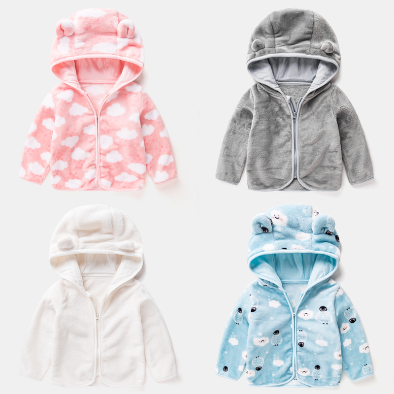 女宝宝外套秋冬女童珊瑚绒上衣加绒加厚保暖冬装儿童2019新款童装