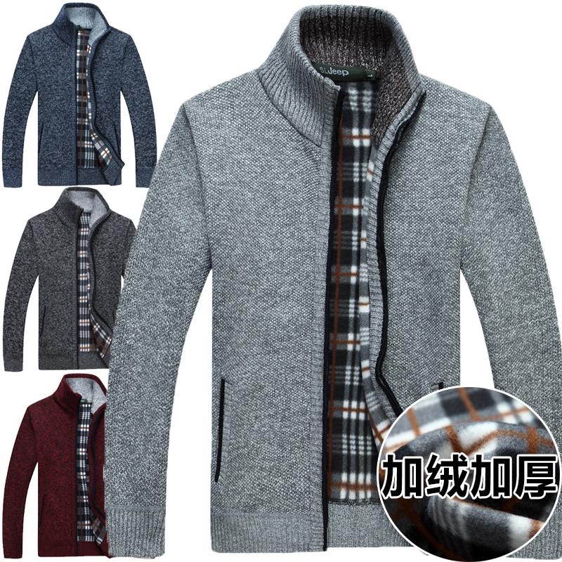 2016秋季套头高领毛衣男装加厚加绒羊毛衫打底羊绒男士宽松针织衫