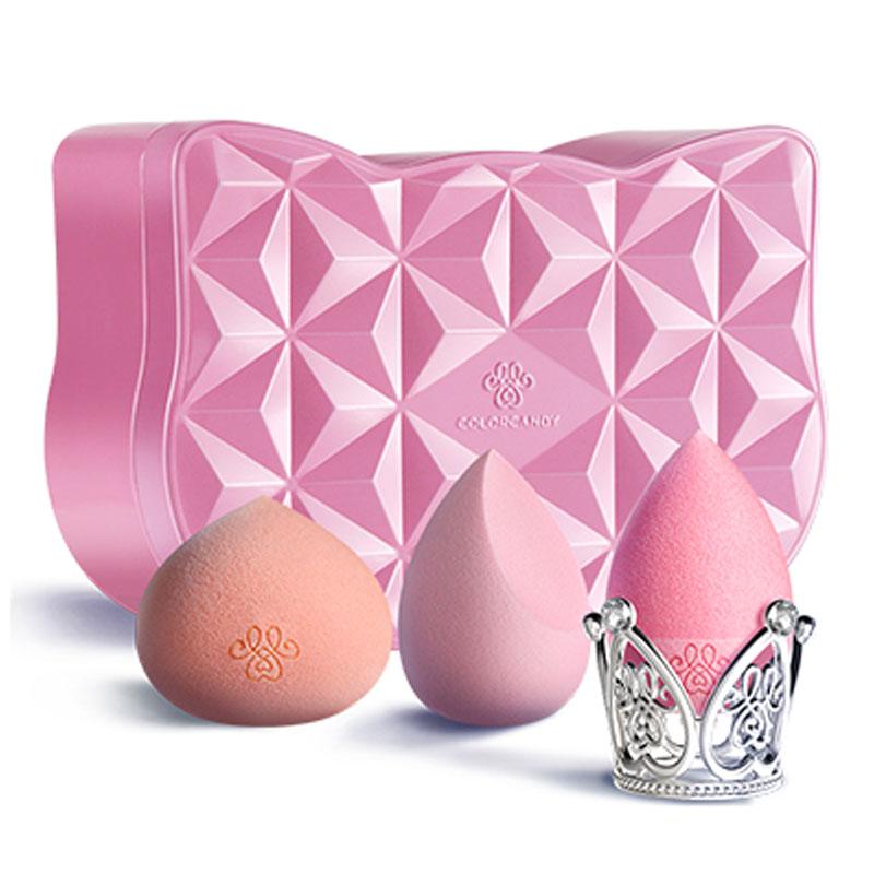 【糖果彩色】硅胶超软细腻美妆蛋3枚