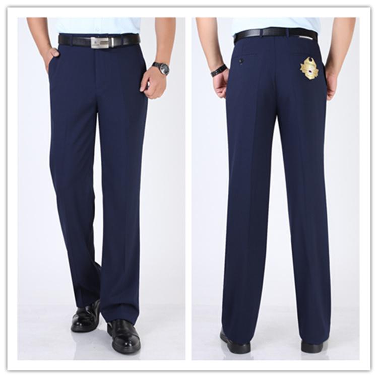 Mùa hè phần mỏng người đàn ông trung niên của quần kinh doanh ăn mặc quần miễn phí hot lụa thẳng thẳng lỏng màu xanh phù hợp với quần nam