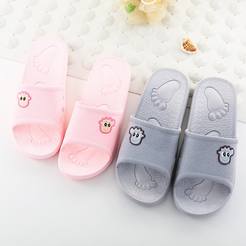 55573aafbae2 Bathroom slippers female summer home Male home summer home indoor non-slip  couple bath leakage shower slippers