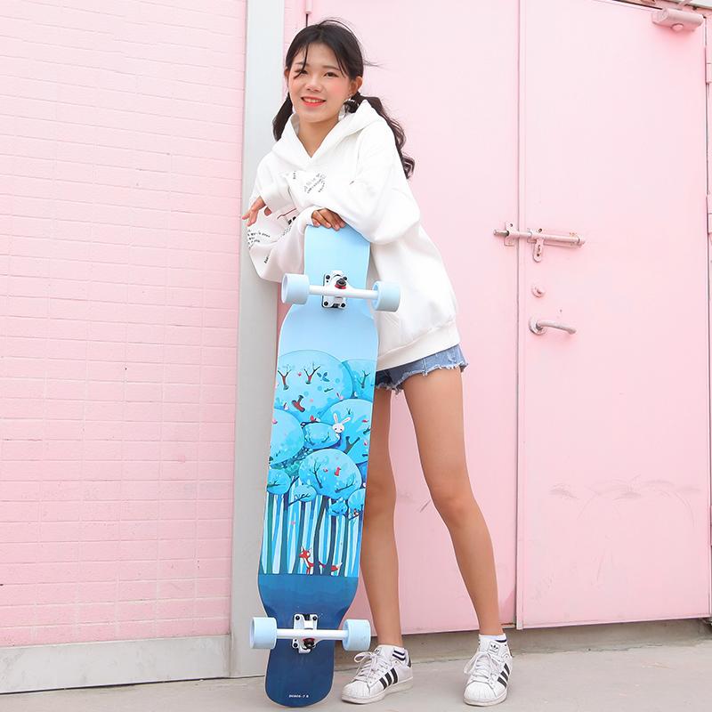 长板滑板全能板专业板女生韩国公路刷街男生代步神器初学者大舞板_领取60元天猫超市优惠券