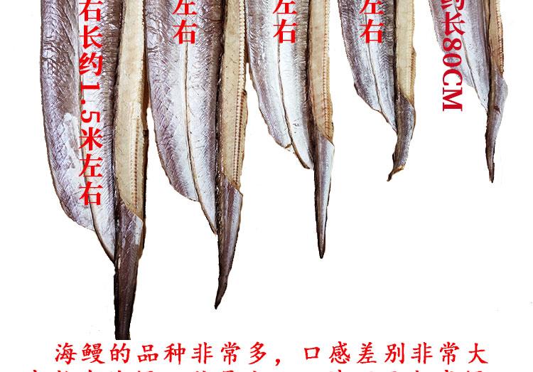 新货宁波舟山东海淡晒大条海鳗鱼干整条海鳗非干货鳗鲞本地鳗包邮详细照片