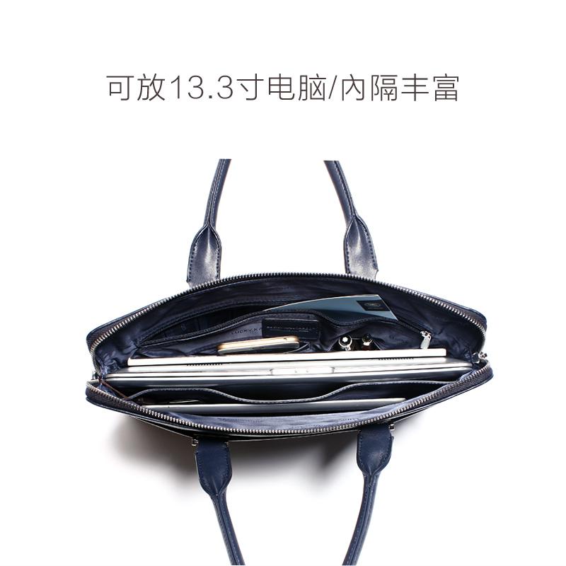 幸运袋鼠男包手提包男士皮包商务包横款公文包单肩包斜挎包电脑包