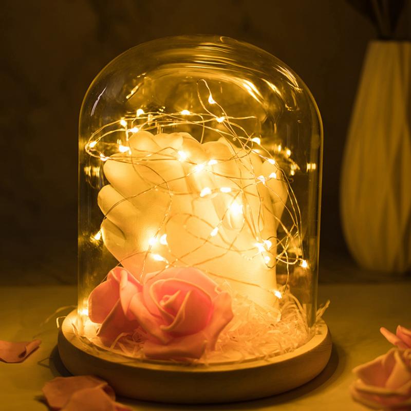 情侣手膜3d手模型礼物diy克隆粉成人制作材料石膏粉手摸印泥自制