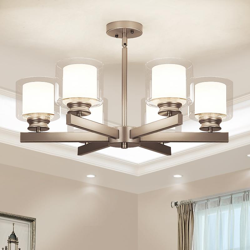 現代簡約吊燈 客廳鐵藝工業風燈具北歐創意餐廳臥室玻璃燈罩燈飾