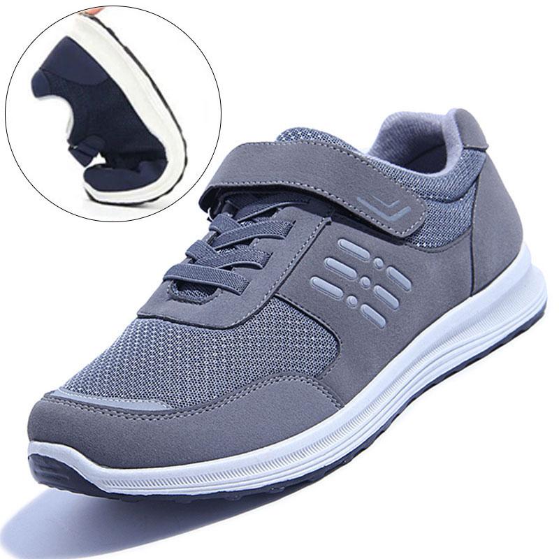 中老年人运动鞋男冬爸爸鞋休闲鞋软底棉鞋冬季男鞋加绒鞋子健步鞋
