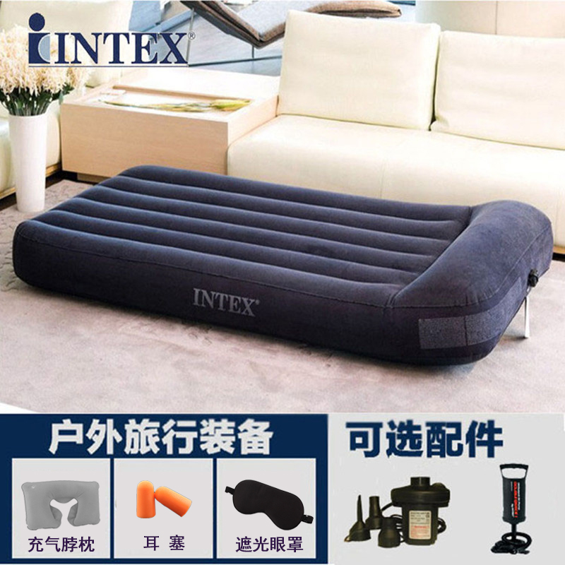 Inflatable bed home simple portable single double air cushion bed thickened outdoor tent folding lunch lunch mattress