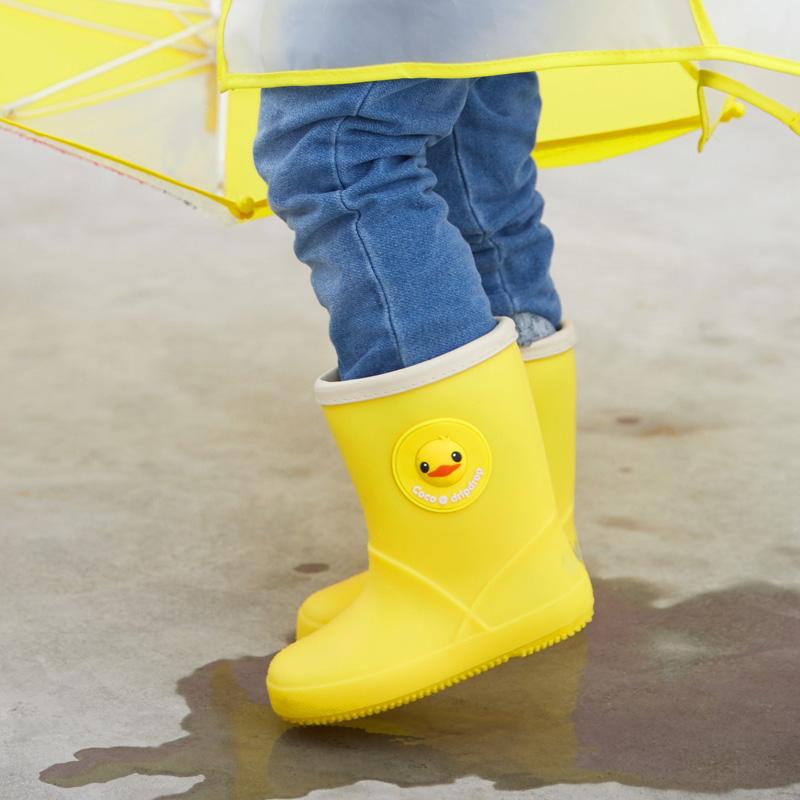 儿童雨衣雨鞋套装男童女童可爱胶鞋幼儿学生水鞋小孩防滑宝宝雨靴
