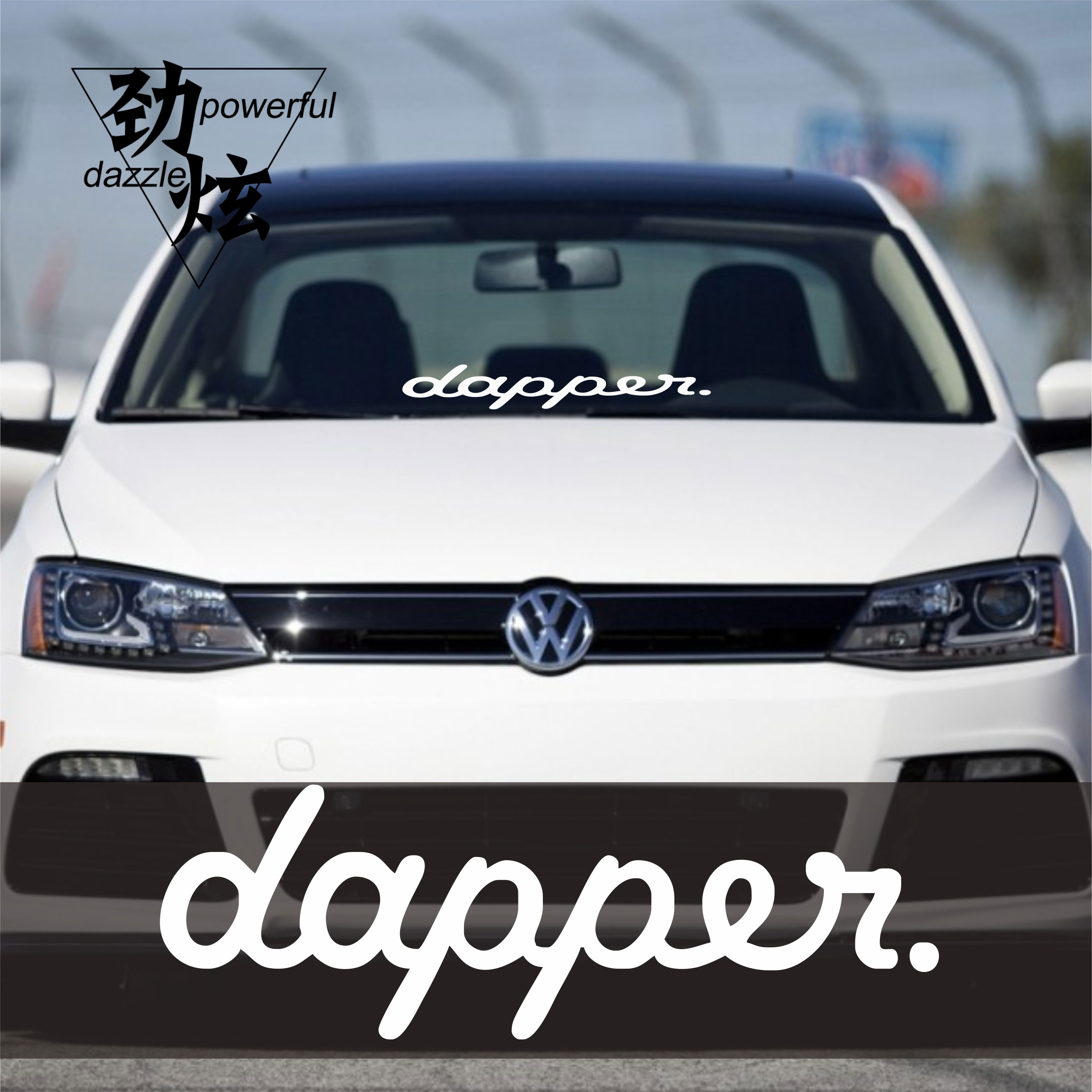 Dapper windshield sticker car front and rear side car stickers personalized stickers trend modified car graffiti