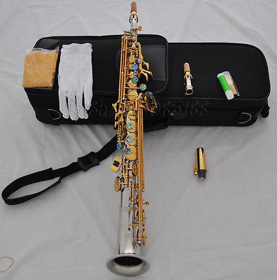 Saxophone tuyệt đẹp Bạc soprano cong Bell High GK chuyên nghiệp phương Tây chơi nhạc cụ saxophone / ống