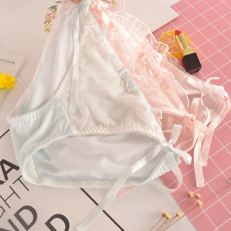 USD 7.29  Lace fat the next day solid color underwear girls ... 8ead42dc1