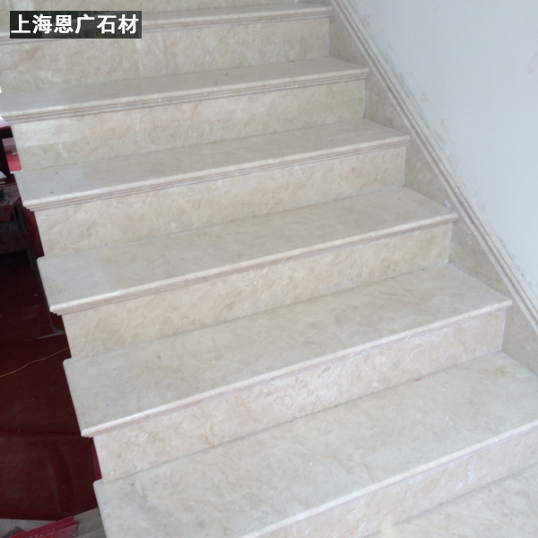 Shanghai Natural Marble Altman Beige Stone Stair Tread TV Background Wall  Villa Stone Window Sill