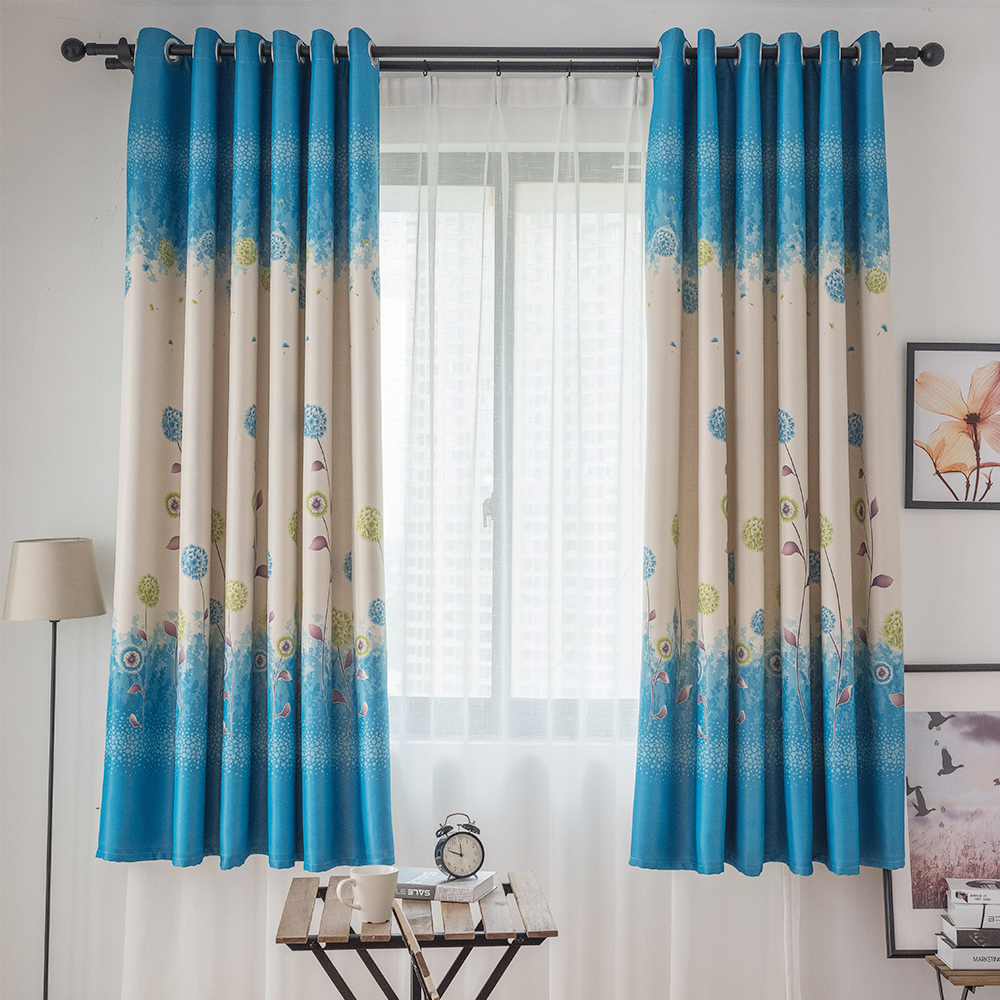 USD 16.36] AI Shang character all the blackout short curtains custom ...