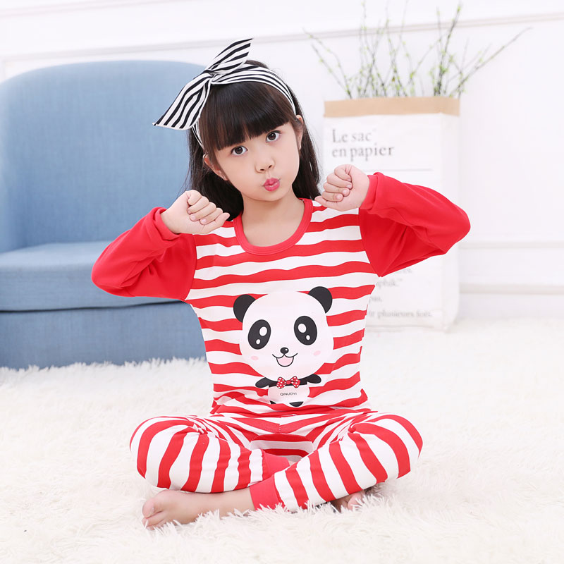 WATERMELON RED 0801 RED STRIP PANDA CLOTHES
