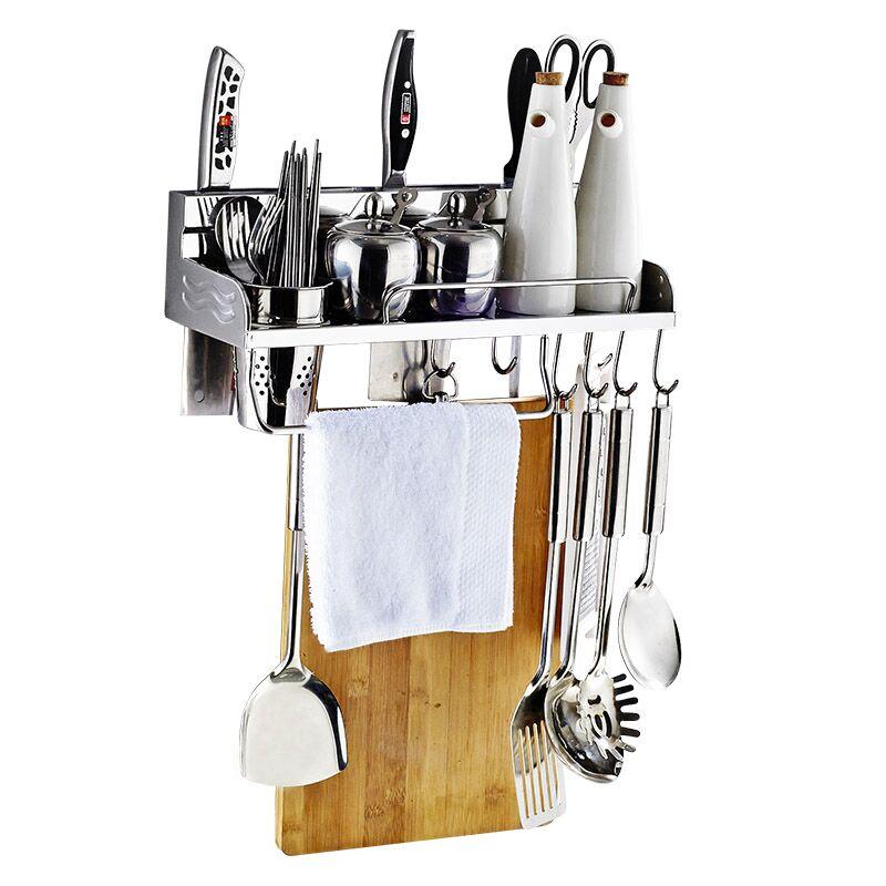 卡贝厨房置物架壁挂架304不锈钢刀架收纳调味调料架挂件厨具用品
